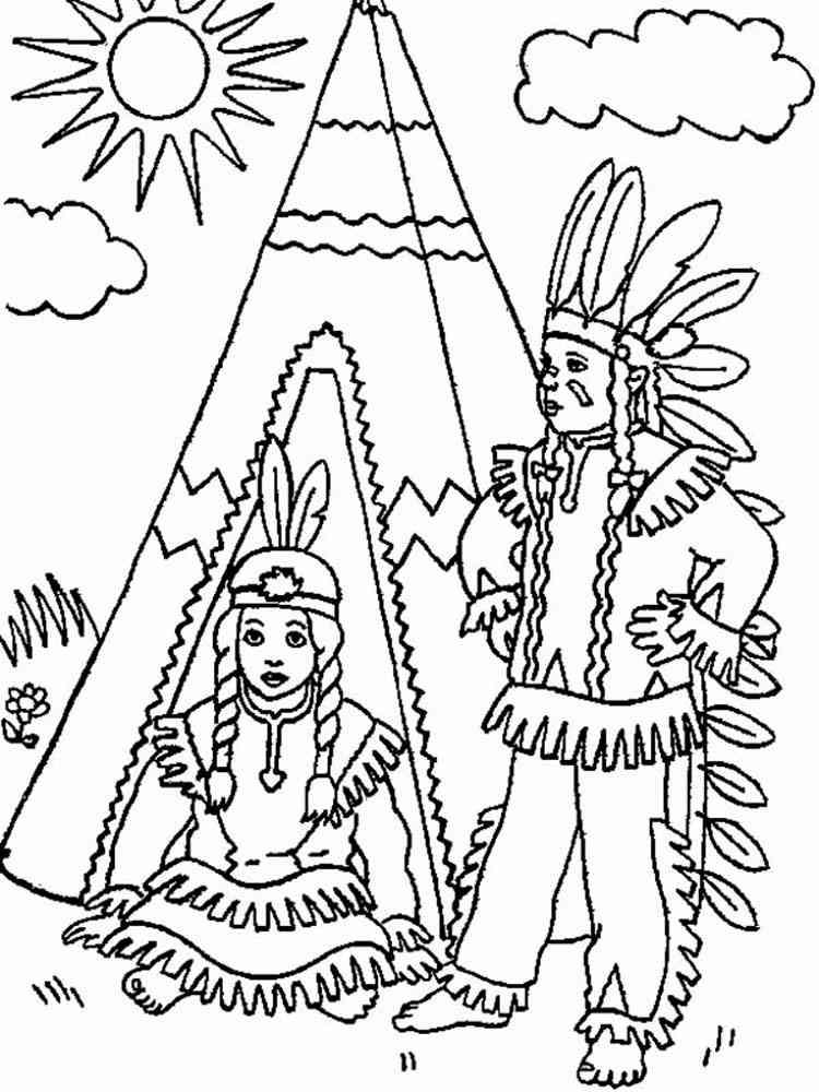 ausmalbilder indianer - 28 images - ausmalbilder