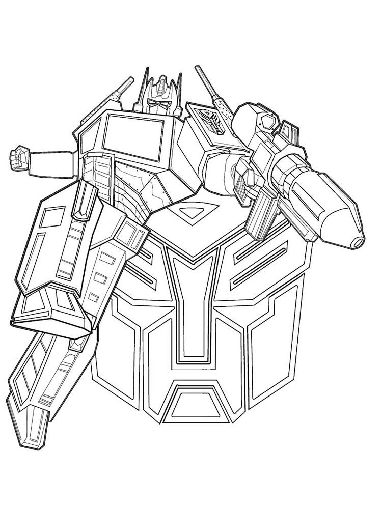free coloring pages for boys transformers costume | Free printable Optimus Prime coloring pages for Boys
