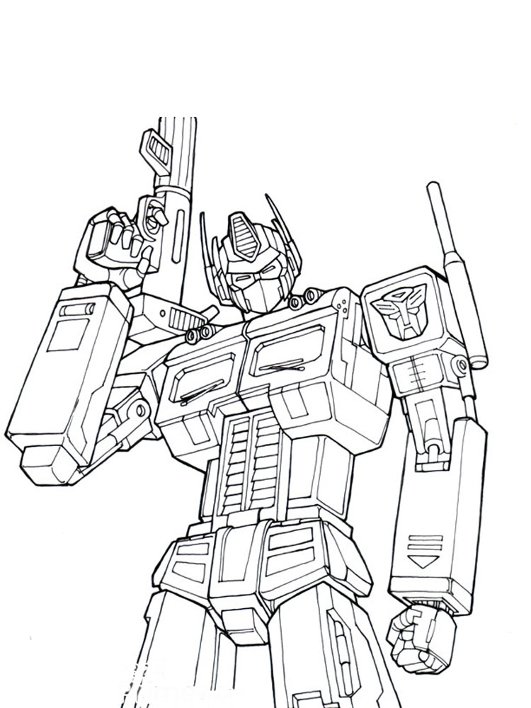 Free Printable Optimus Prime Coloring Pages For Boys