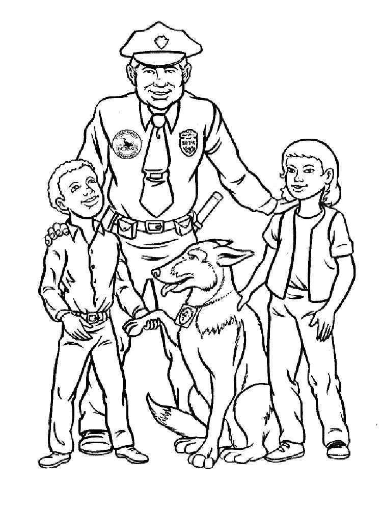 ausmalbilder polizei - malvorlagen kostenlos zum ausdrucken