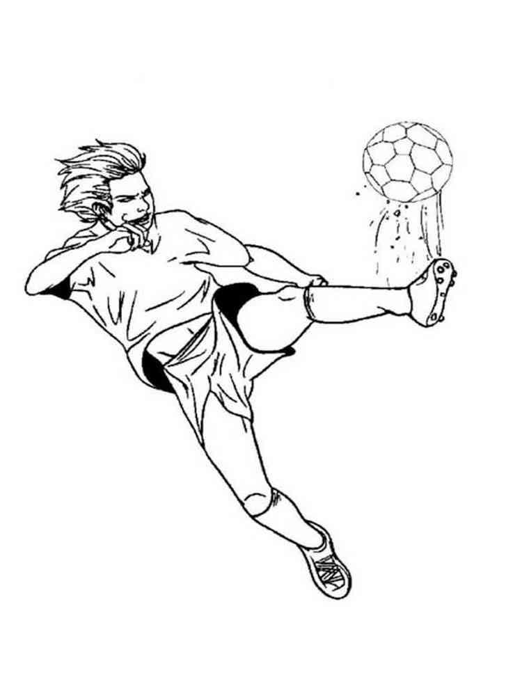Ausmalbilder Fußballspieler
