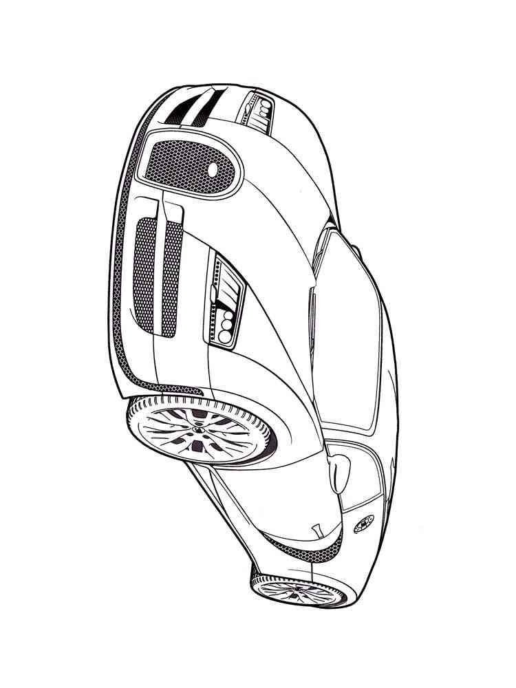 Ausmalbilder Bugatti - Malvorlagen Kostenlos zum Ausdrucken