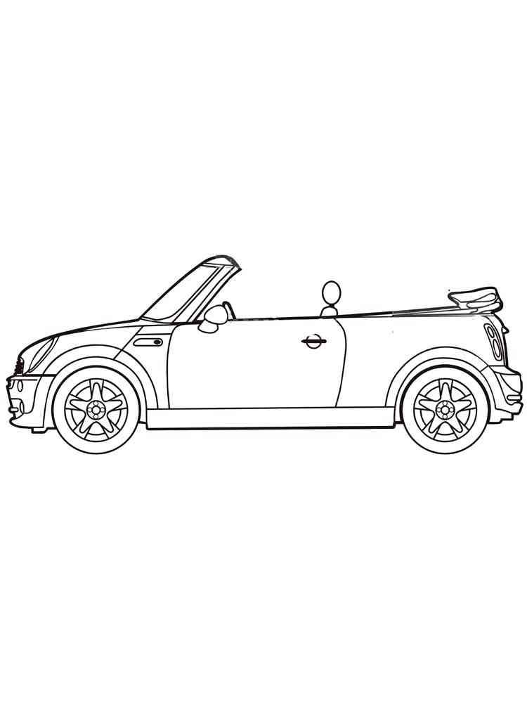 ausmalbilder cabriolet - malvorlagen kostenlos zum ausdrucken