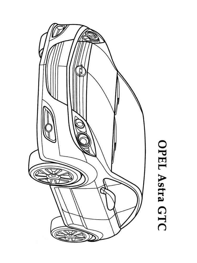 Ausmalbilder Opel - Malvorlagen Kostenlos zum Ausdrucken