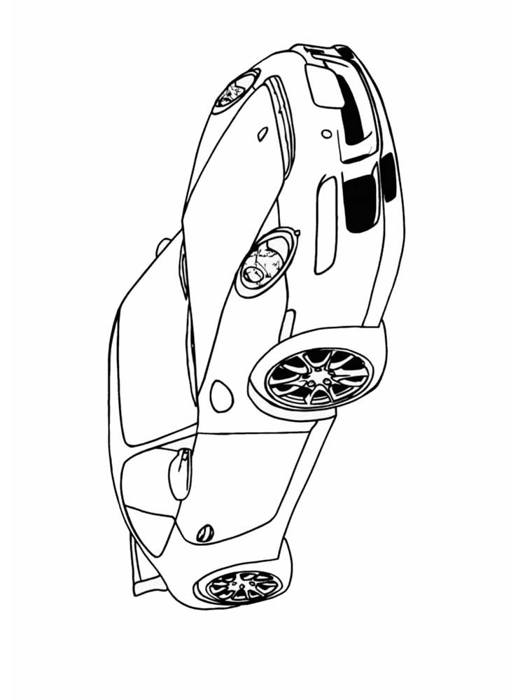 ausmalbilder sportwagen  malvorlagen kostenlos zum ausdrucken
