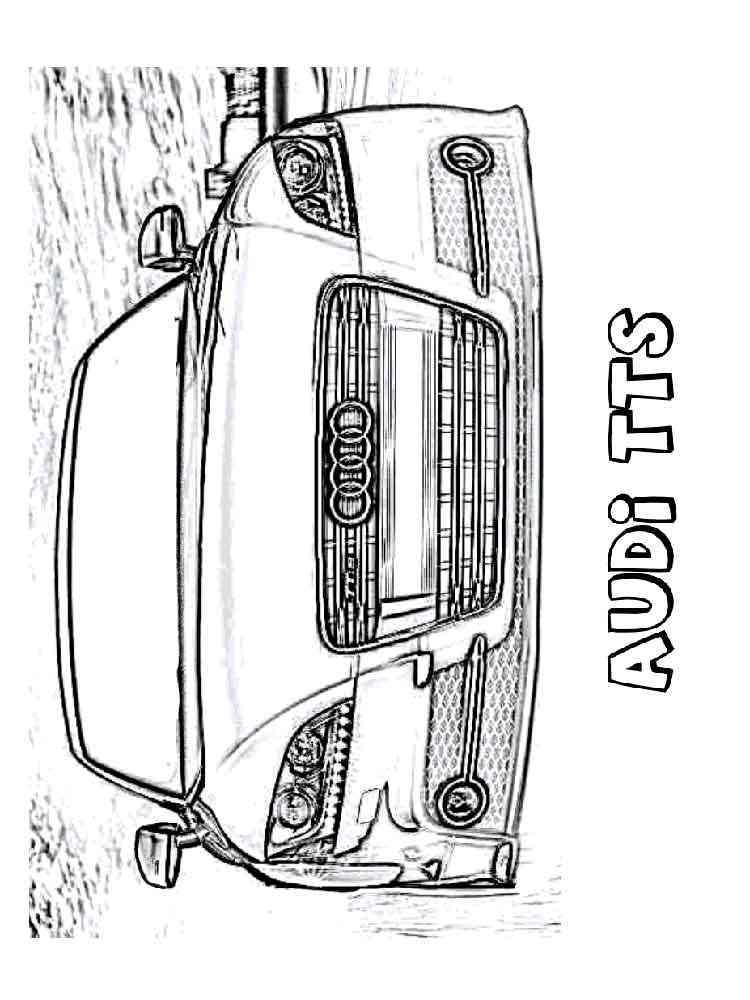 Ausmalbilder Audi - Malvorlagen Kostenlos zum Ausdrucken
