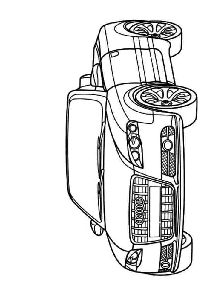 ausmalbilder audi  malvorlagen kostenlos zum ausdrucken