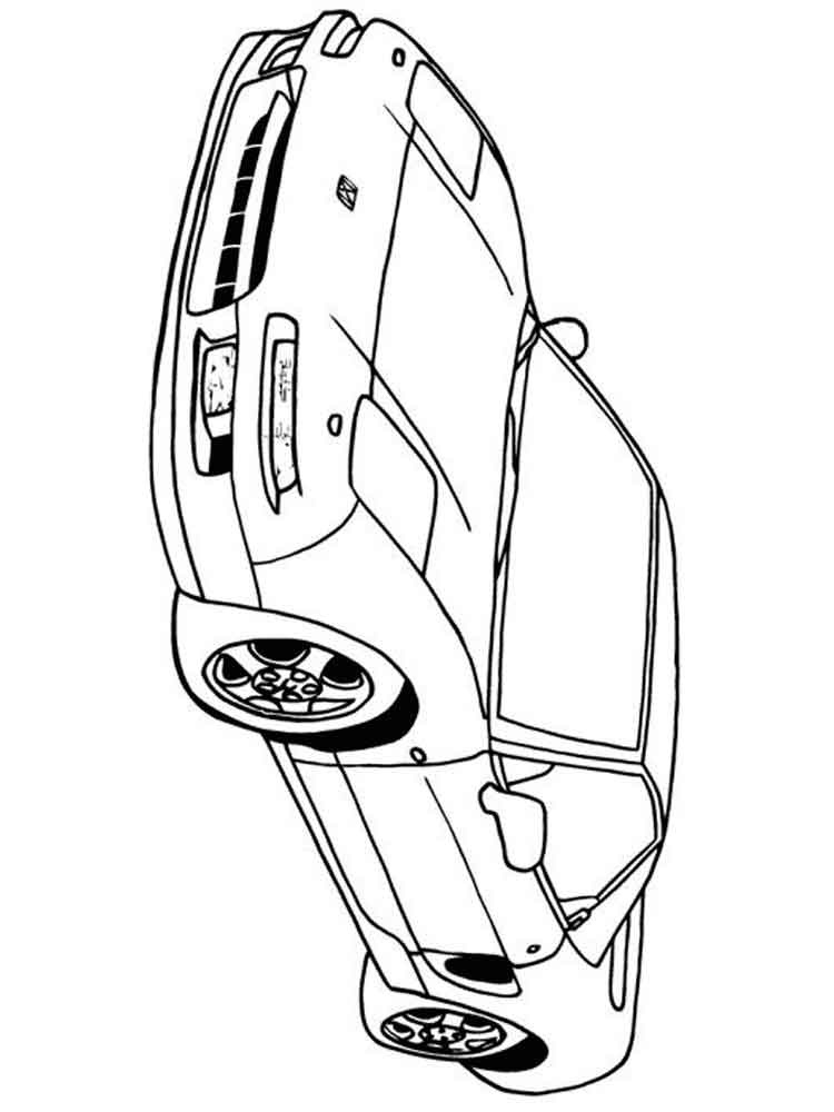 Free printable Honda car coloring