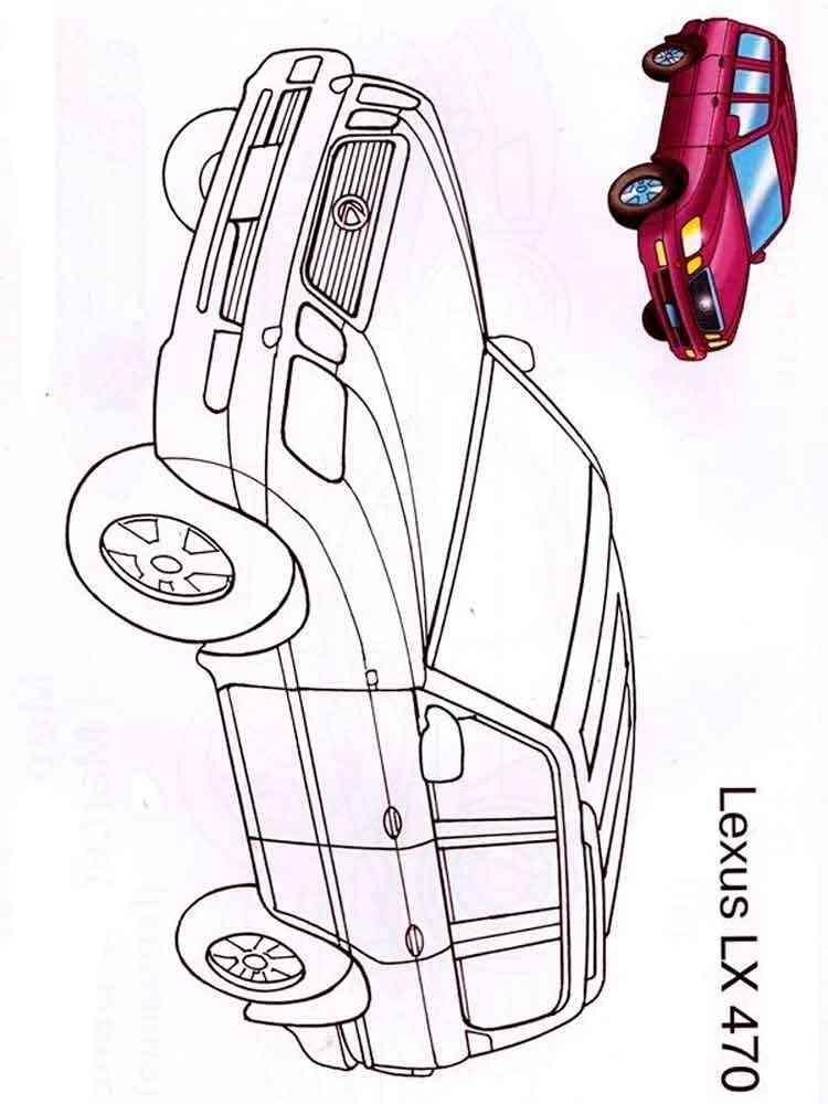 Free printable Lexus car coloring
