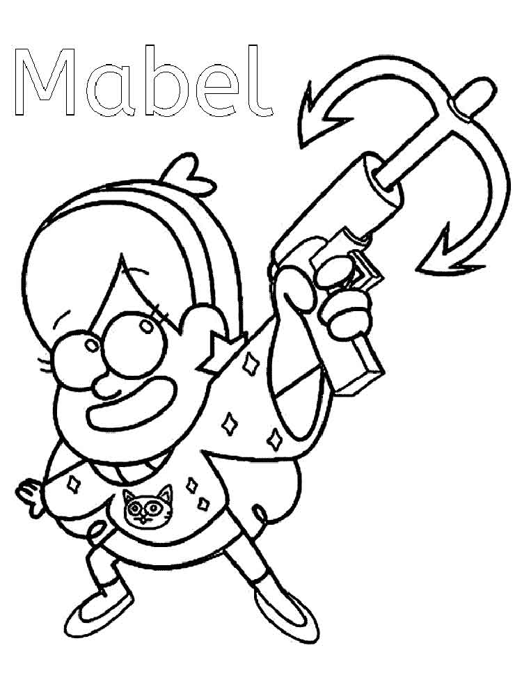 Gravity Falls Coloring Pages For Kids Free Printable Gravity Falls