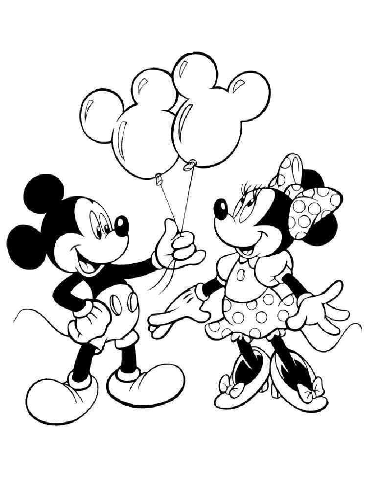 ausmalbilder mickey mouse und minnie mouse  malvorlagen