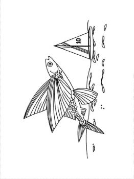 Flying-fish-coloring pages-6