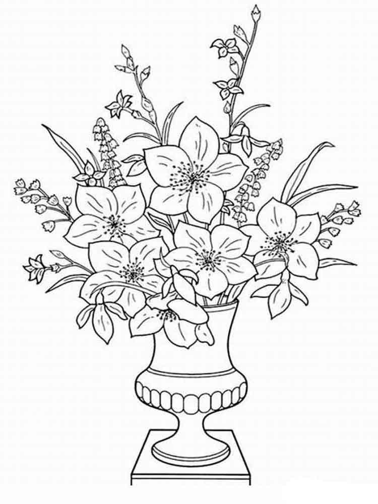 ausmalbilder blumen in vase - malvorlagen kostenlos zum