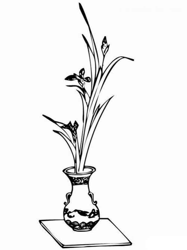 ausmalbilder blumen in vase  malvorlagen kostenlos zum