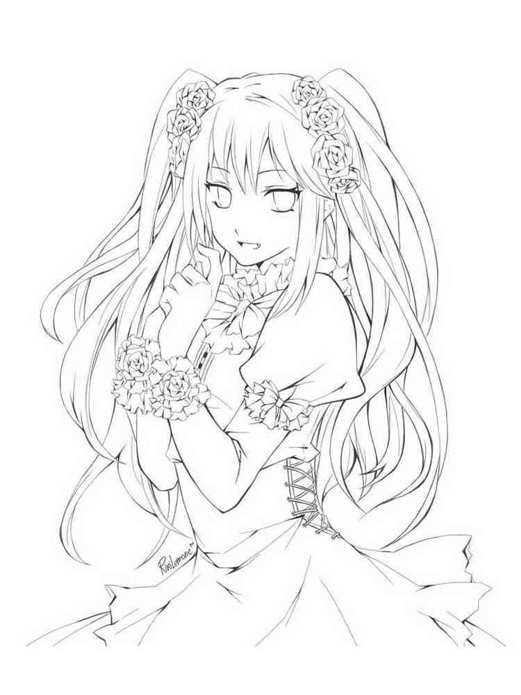 Ausmalbilder Anime Mädchen - Malvorlagen Kostenlos zum ...