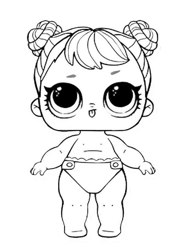 ausmalbilder baby lol surprise - malvorlagen kostenlos zum