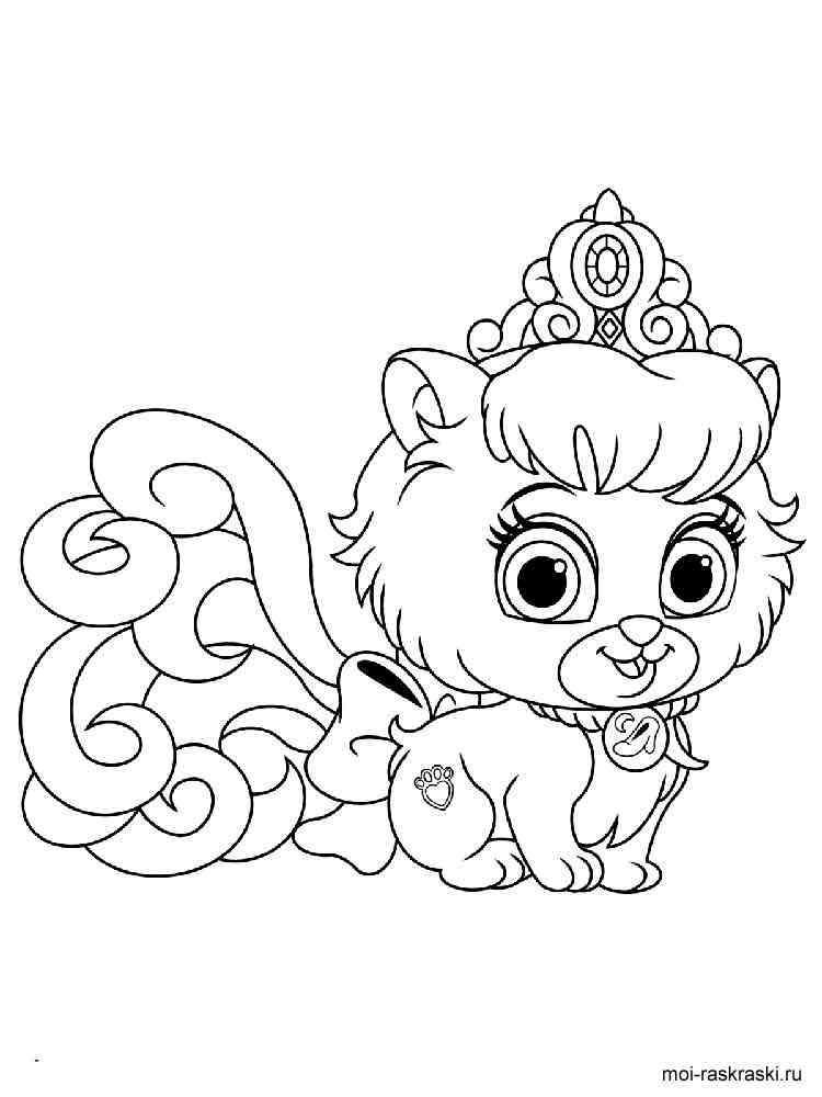 ausmalbilder disney princess palace pets  malvorlagen