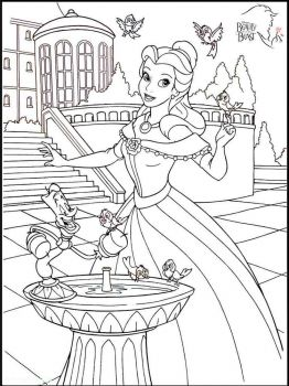 beauty-and-the-beast-coloring-pages-11