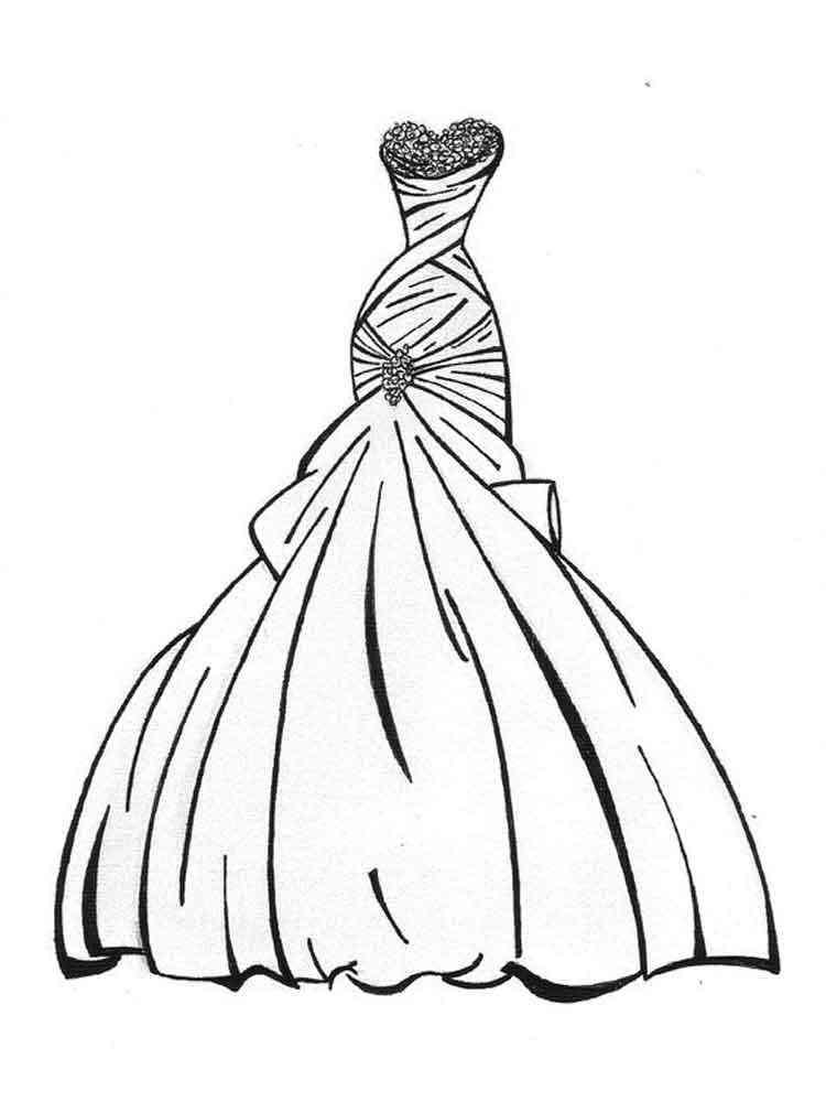 Ausmalbilder Kleid - Malvorlagen Kostenlos zum Ausdrucken