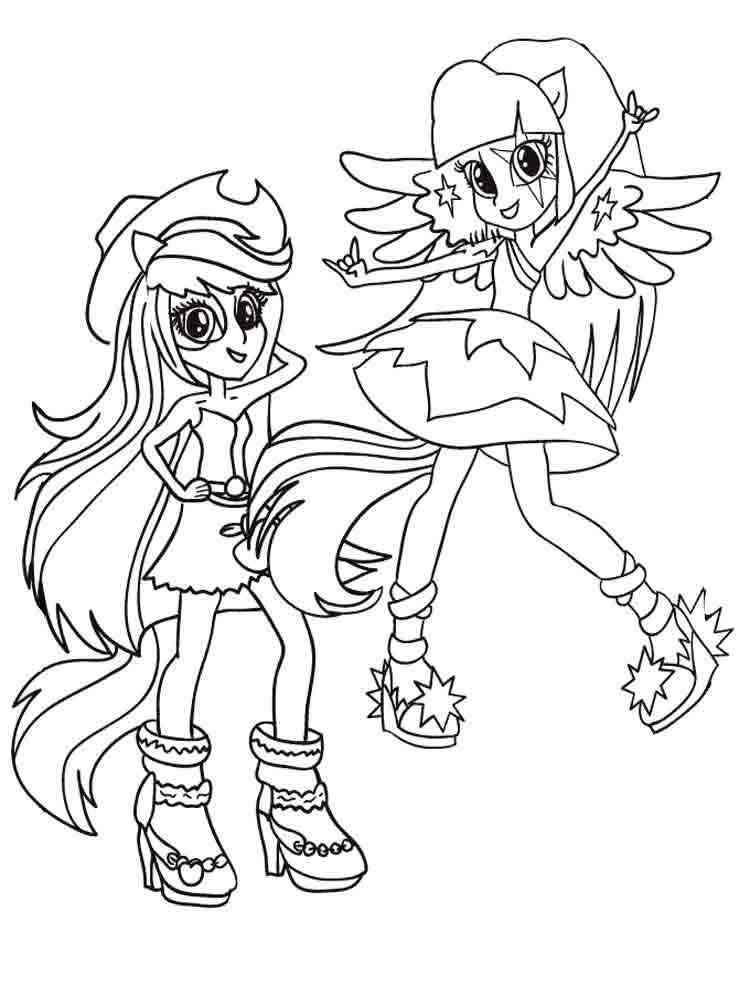 ausmalbilder equestria girls  malvorlagen kostenlos zum