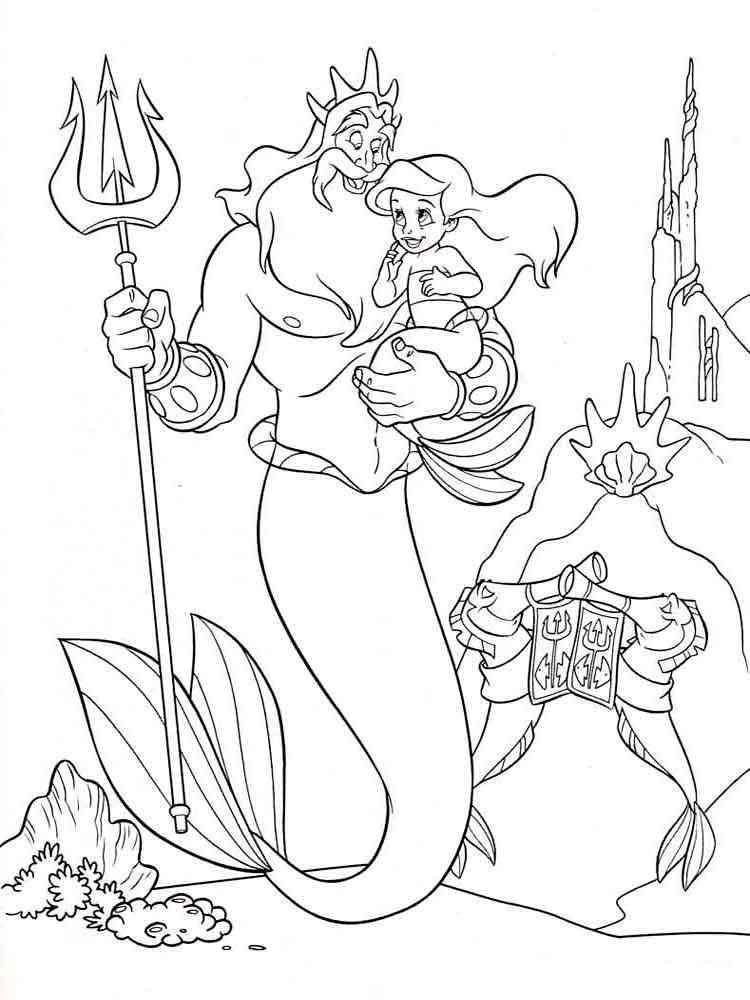 ausmalbilder arielle die meerjungfrau - malvorlagen