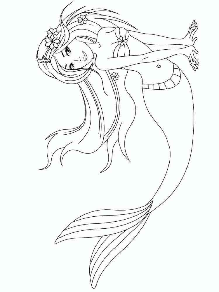 ausmalbilder meerjungfrauen  malvorlagen kostenlos zum