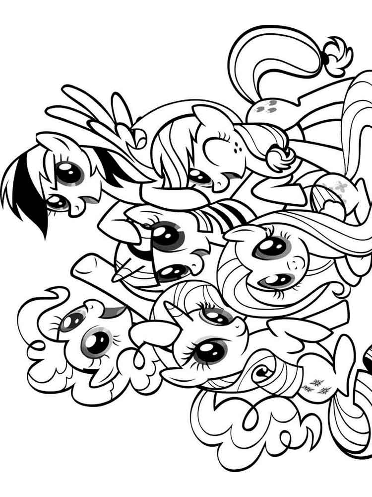 ausmalbilder my little pony - malvorlagen kostenlos zum