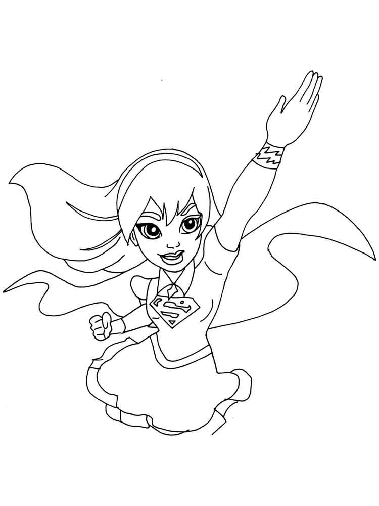 Free Printable Supergirl Coloring Pages For Kids