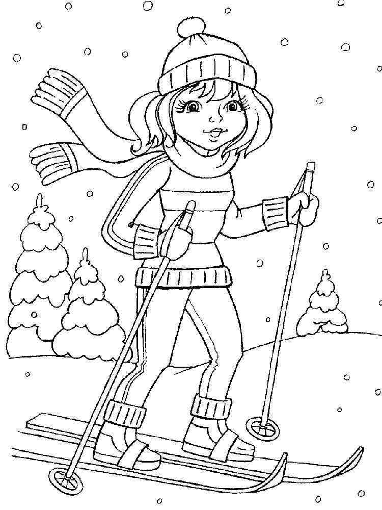 malvorlagen ski  ausmalbilder kostenlos zum ausdrucken