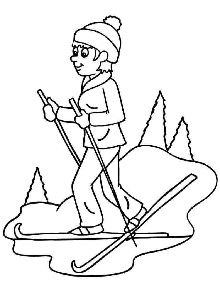Malvorlagen Ski - Ausmalbilder Kostenlos zum Ausdrucken