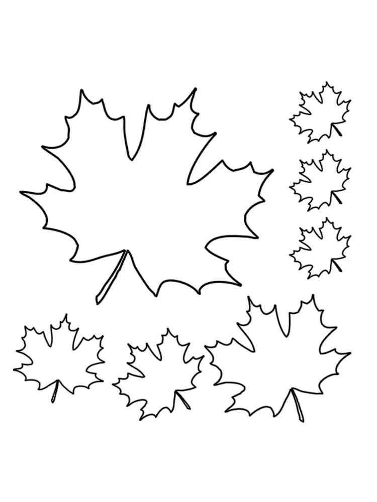Coloriages Feuilles gratuits à imprimer pour les enfants