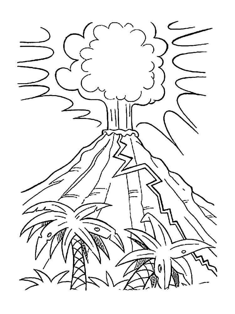 Malvorlagen Vulkan - Ausmalbilder Kostenlos zum Ausdrucken