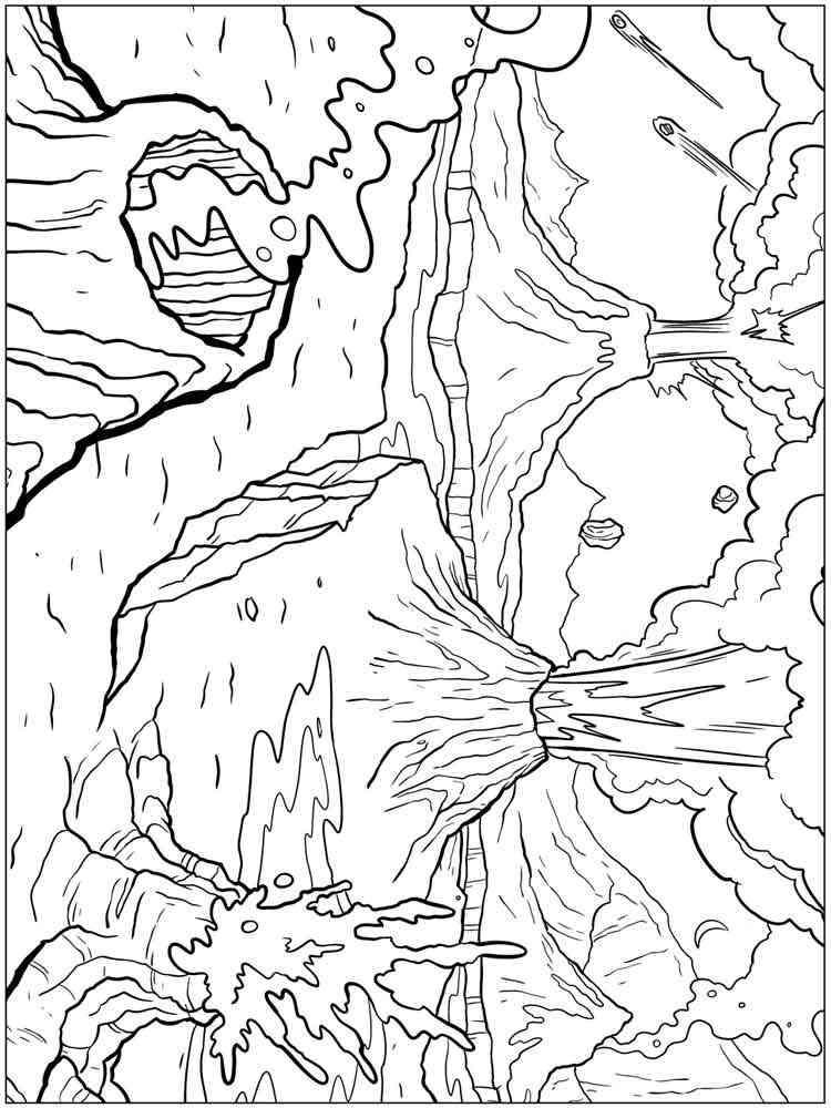 malvorlagen vulkan  ausmalbilder kostenlos zum ausdrucken