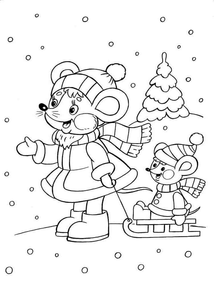 malvorlagen winter - ausmalbilder kostenlos zum ausdrucken